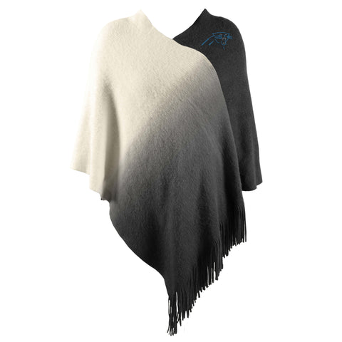 Carolina Panthers Dip Dye Poncho