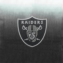 Load image into Gallery viewer, Oakland Raiders Dip Dye Poncho