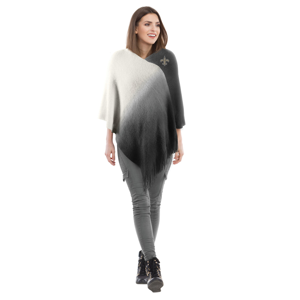 New Orleans Saints Dip Dye Poncho