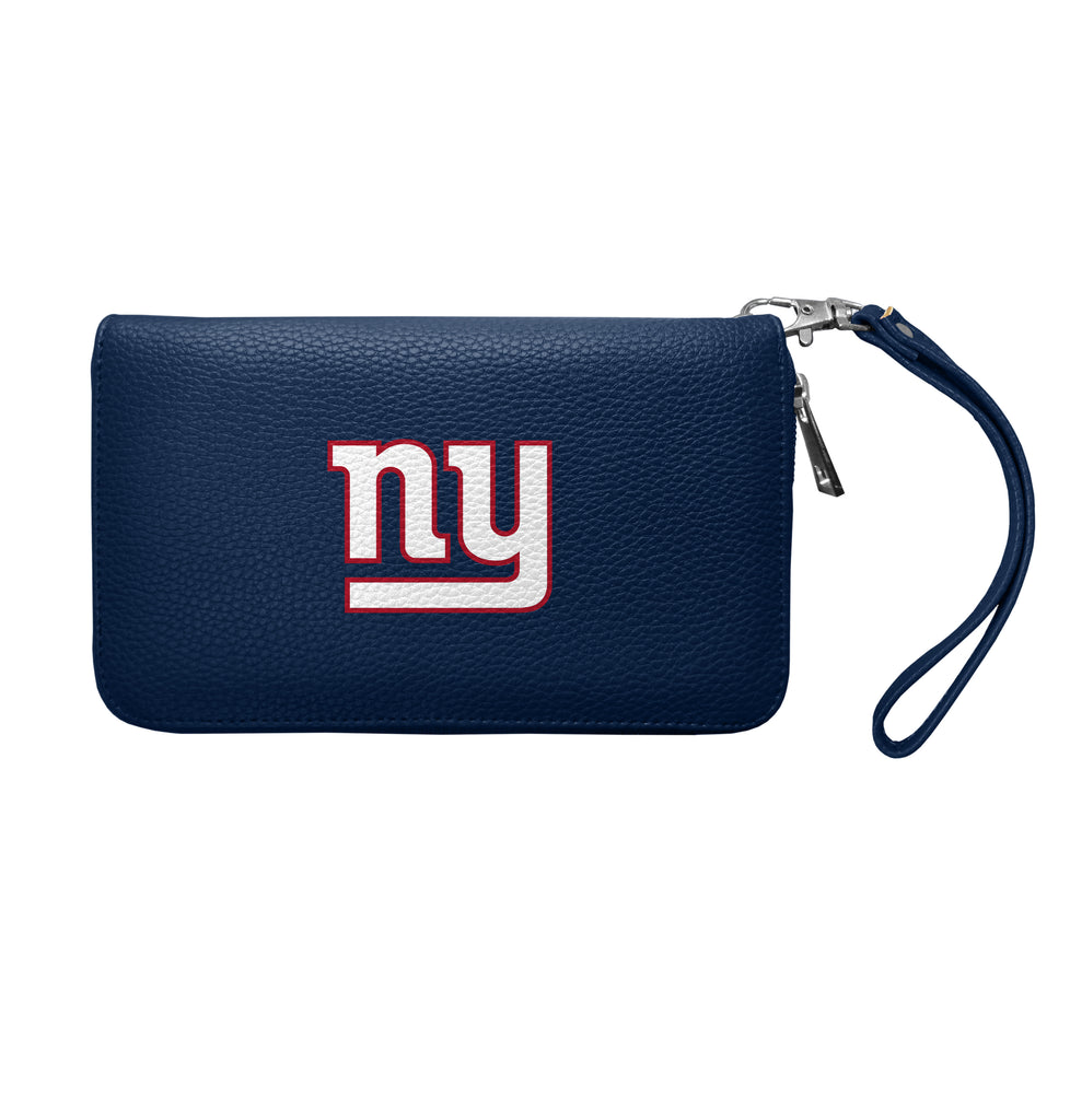 New York Giants Zip Organizer Wallet Pebble