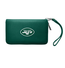 Load image into Gallery viewer, New York Jets Zip Organizer Wallet Pebble