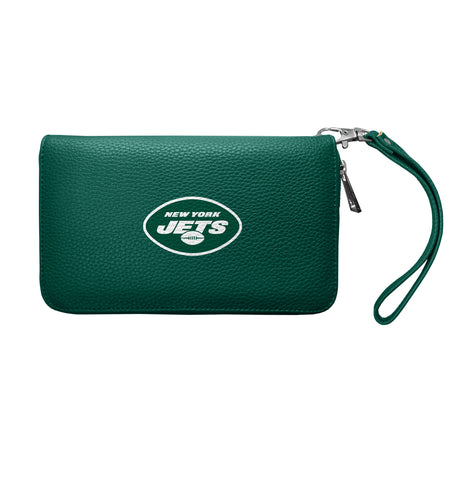 New York Jets Zip Organizer Wallet Pebble
