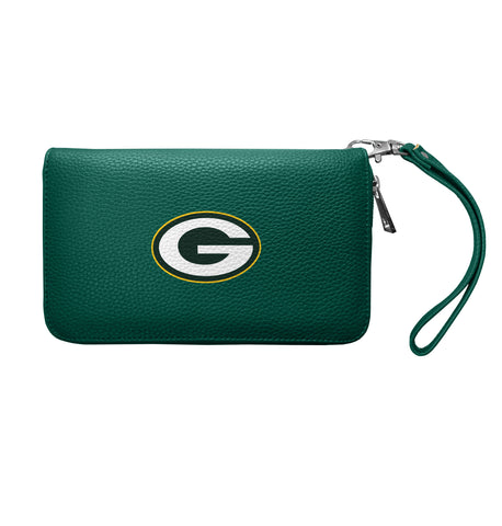 Green Bay Packers Zip Organizer Wallet Pebble