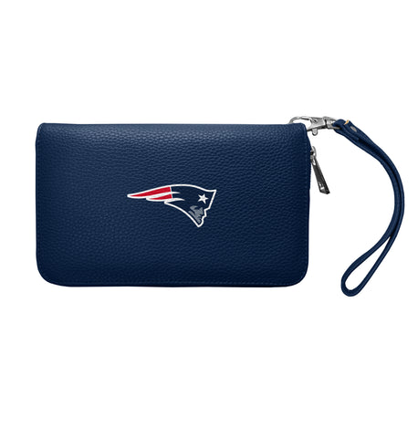 New England Patriots Zip Organizer Wallet Pebble