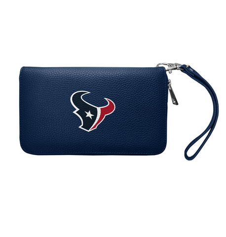 Houston Texans Zip Organizer Wallet Pebble