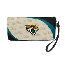 Load image into Gallery viewer, Jacksonville Jaguars Curve Zip Organizer Wallet