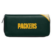 Load image into Gallery viewer, Green Bay Packers Curve Zip Organizer Wallet