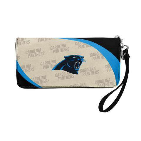 Carolina Panthers Curve Zip Organizer Wallet
