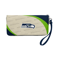Load image into Gallery viewer, Seattle Seahawks Curve Zip Organizer Wallet