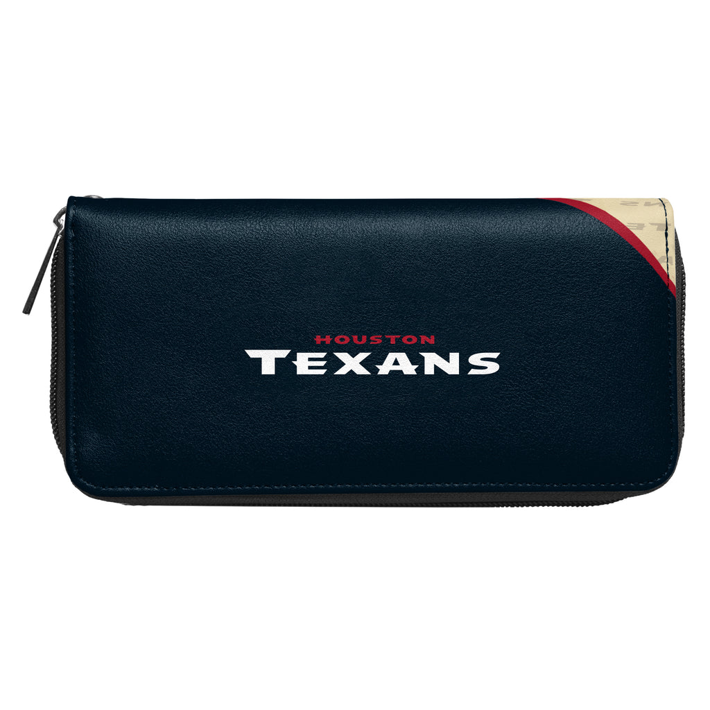 Houston Texans Curve Zip Organizer Wallet