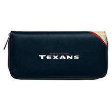 Load image into Gallery viewer, Houston Texans Curve Zip Organizer Wallet