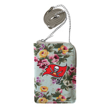 Load image into Gallery viewer, Tampa Bay Buccaneers Canvas Floral Smart Purse