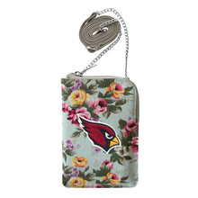 Load image into Gallery viewer, Arizona Cardinals Canvas Floral Smart Purse