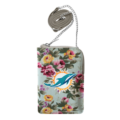 Miami Dolphins Canvas Floral Smart Purse