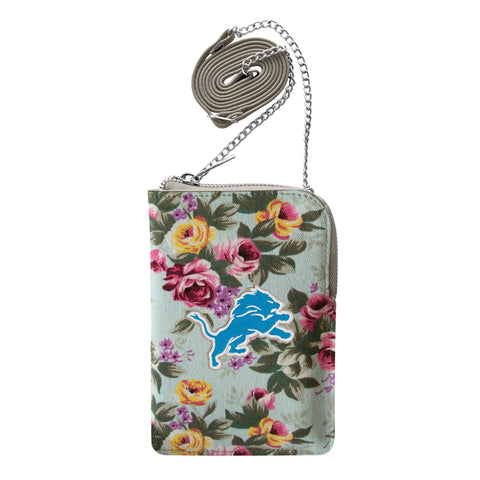 Detroit Lions Canvas Floral Smart Purse