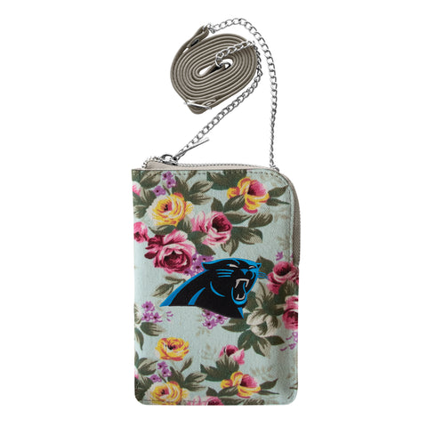 Carolina Panthers Canvas Floral Smart Purse