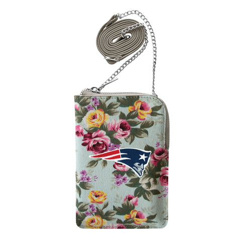 New England Patriots Canvas Floral Smart Purse