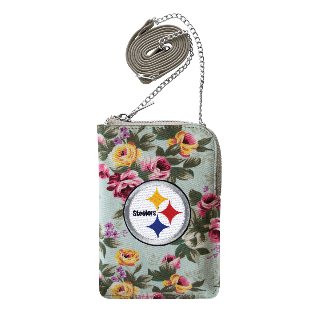 Pittsburgh Steelers Canvas Floral Smart Purse