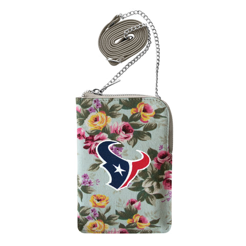 Houston Texans Canvas Floral Smart Purse