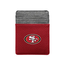 Load image into Gallery viewer, San Francisco 49ers Pebble Front Pocket Wallet
