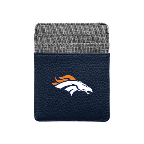 Denver Broncos Pebble Front Pocket Wallet