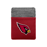 Arizona Cardinals Pebble Front Pocket Wallet