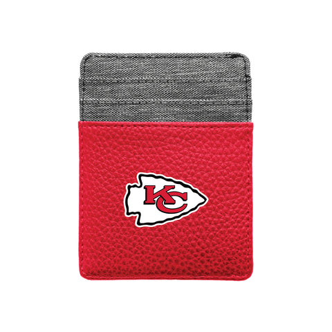 Kansas City Chiefs Pebble Front Pocket Wallet