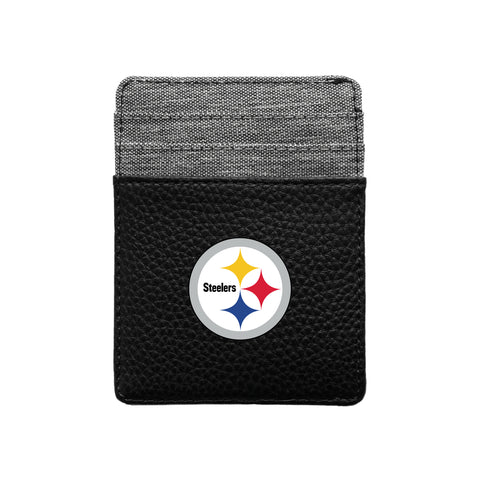 Pittsburgh Steelers Pebble Front Pocket Wallet