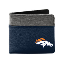 Load image into Gallery viewer, Denver Broncos Pebble Bi-Fold Wallet