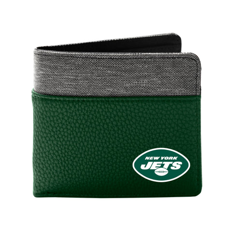 New York Jets Pebble Bi-Fold Wallet
