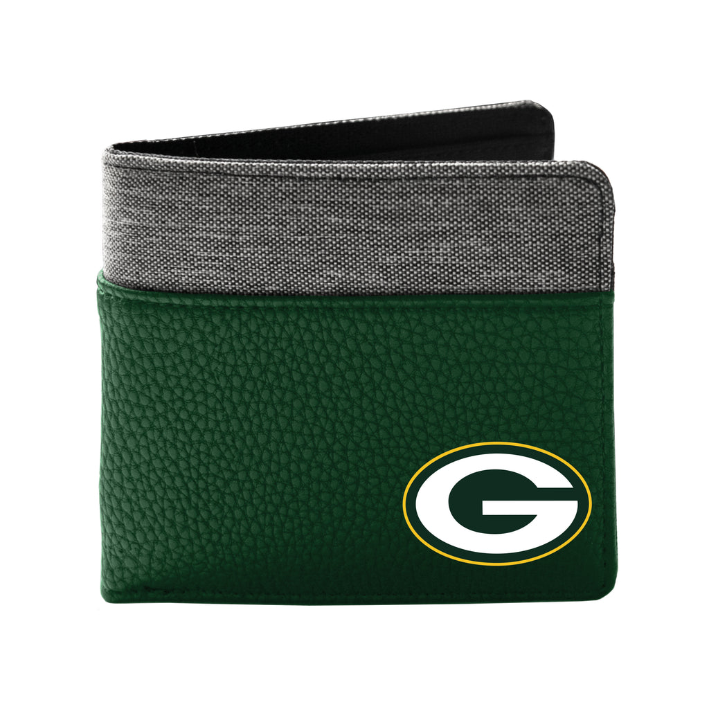 Green Bay Packers Pebble Bi-Fold Wallet
