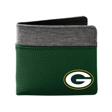 Load image into Gallery viewer, Green Bay Packers Pebble Bi-Fold Wallet