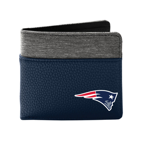 New England Patriots Pebble Bi-Fold Wallet