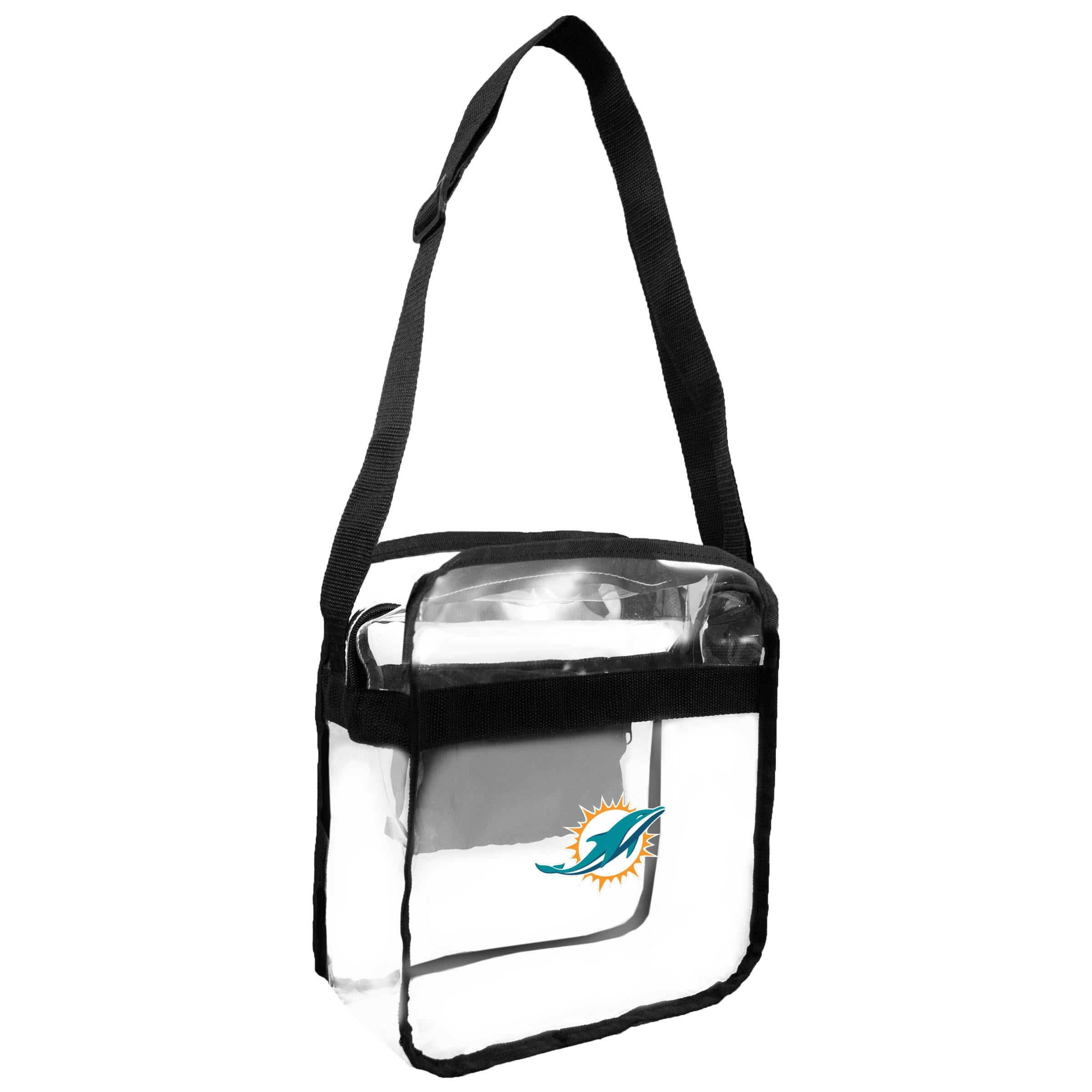 Miami Dolphins Clear Carryall Crossbody