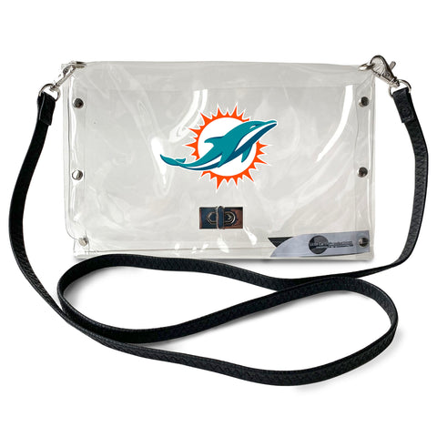 Miami Dolphins Clear Envelope Purse