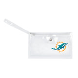 Miami Dolphins Clear Ticket Wristlet