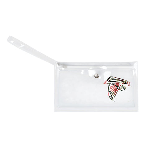 Atlanta Falcons Clear Ticket Wristlet