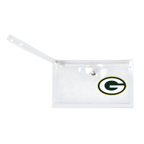 Green Bay Packers Clear Ticket Wristlet