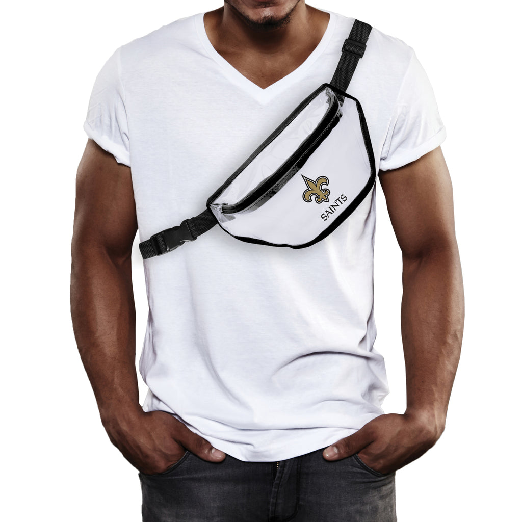 New Orleans Saints Clear Fanny Pack