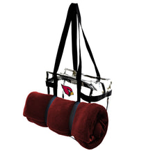 Load image into Gallery viewer, Arizona Cardinals Clear Tote Along