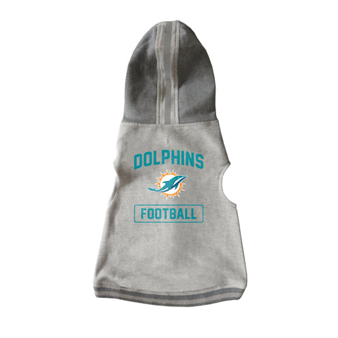 Miami Dolphins Pet Hooded Crewneck Type