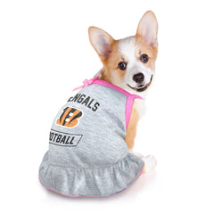 Cincinnati Bengals Pet Dress Grey Type
