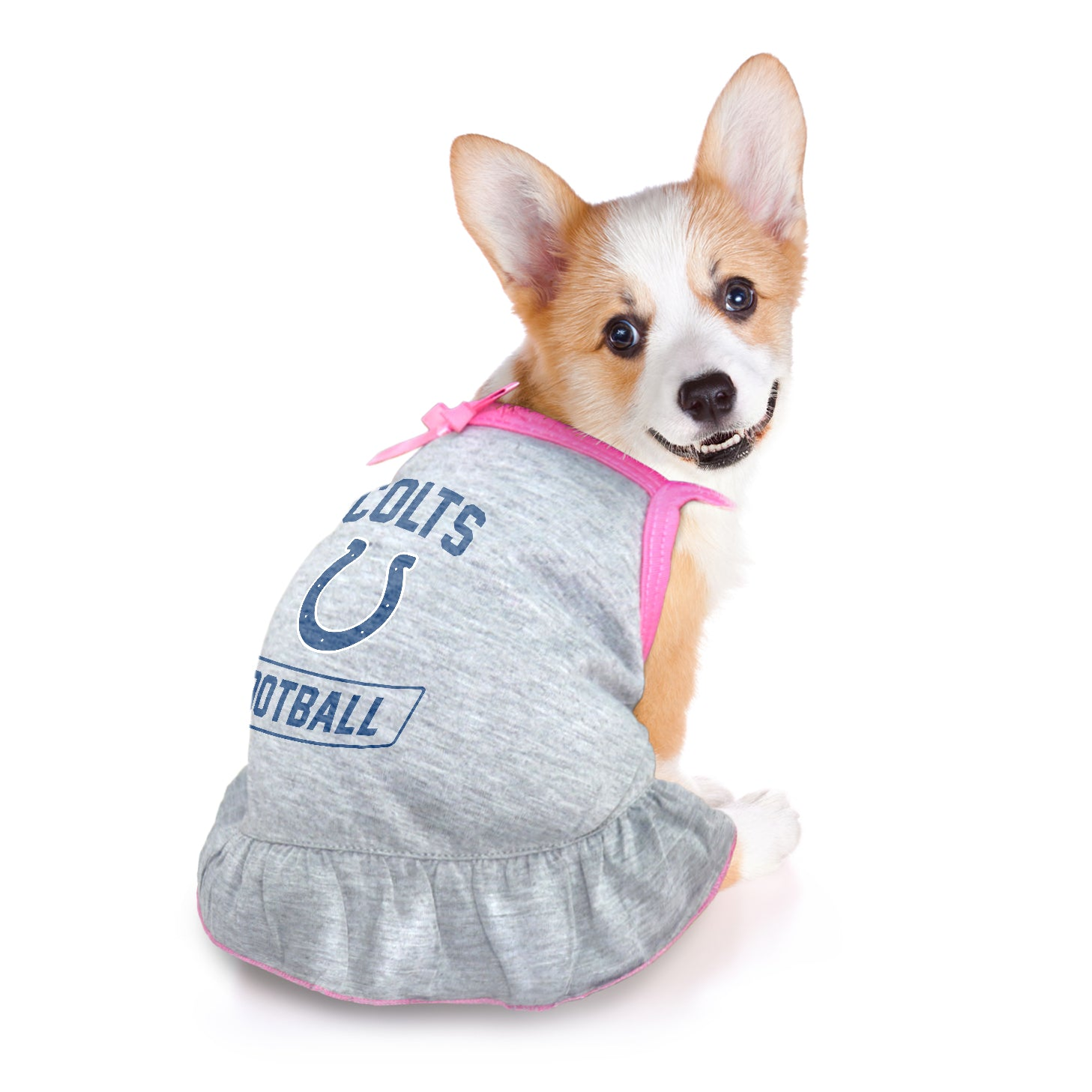 Indianapolis Colts Pet Dress Grey Type
