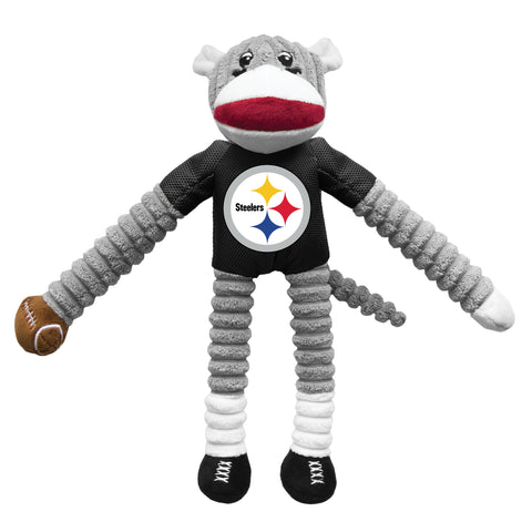 Pittsburgh Steelers Team Sock Monkey Pet Toy