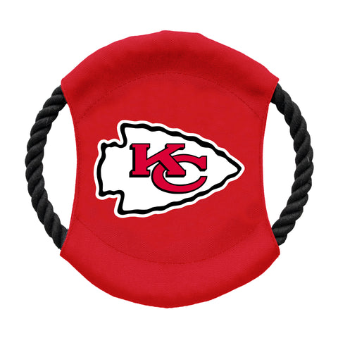 Kansas City Chiefs Team Flying Disc Pet Toy