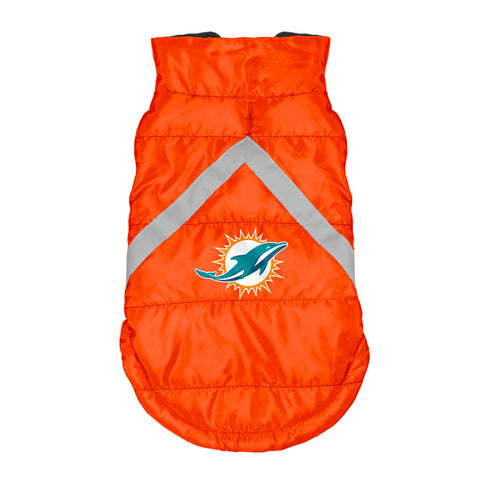 Miami Dolphins Pet Puffer Vest