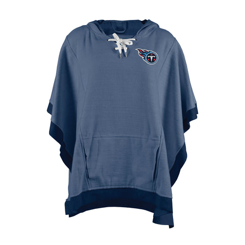 Tennessee Titans Heather Hoodie Poncho