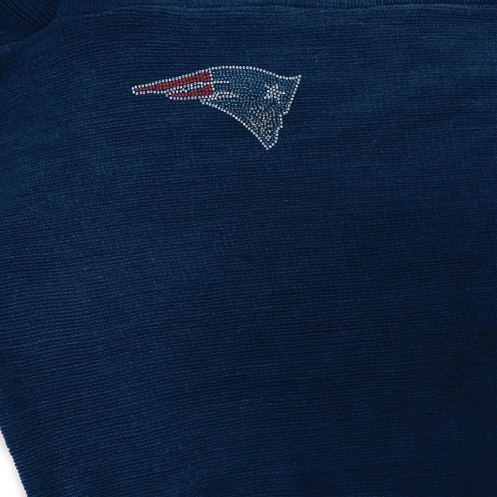 New England Patriots Crystal Knit Poncho