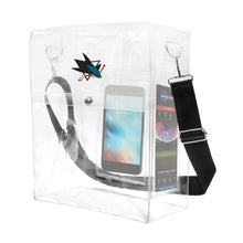 Load image into Gallery viewer, San Jose Sharks Clear Ticket Satchel