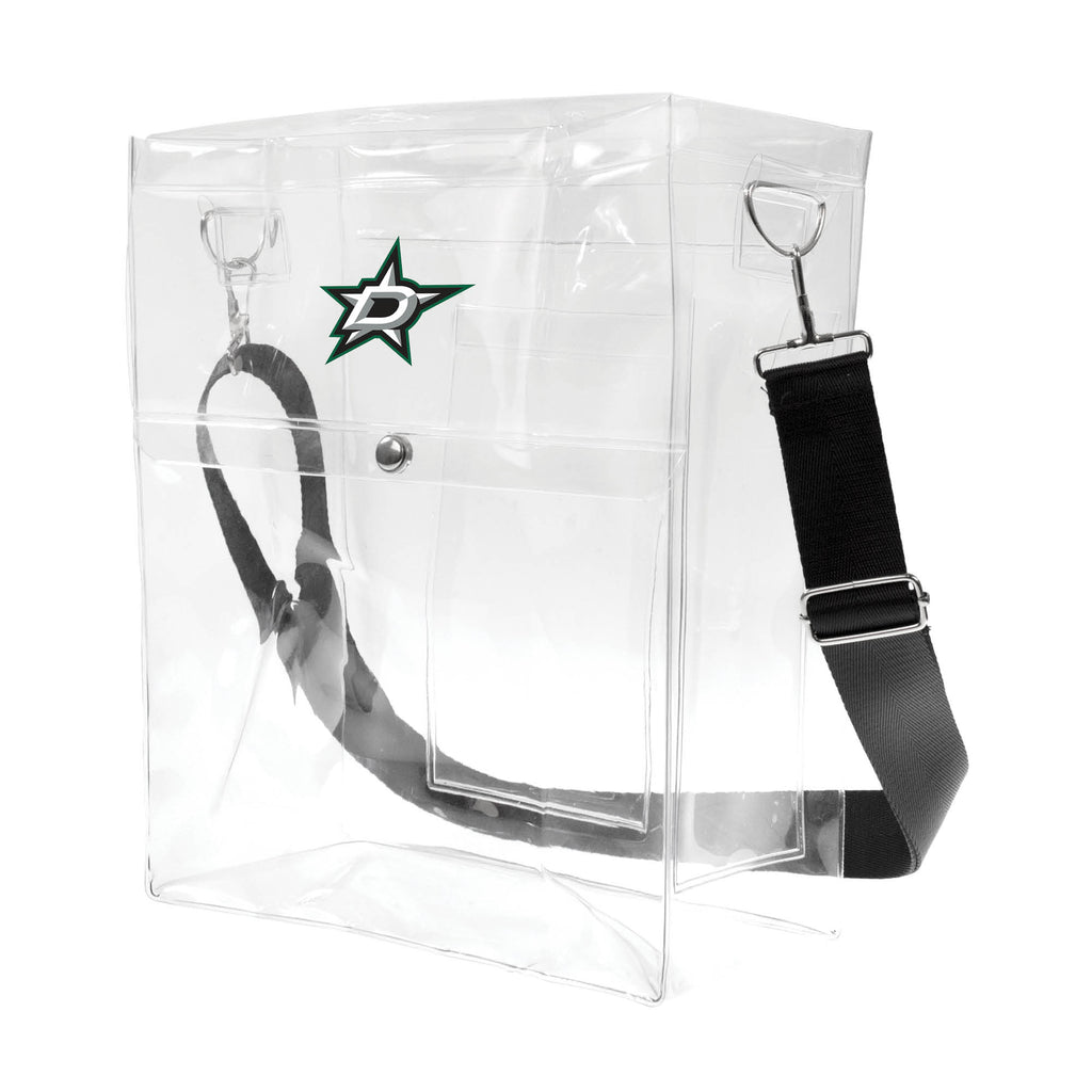 Dallas Stars Clear Ticket Satchel